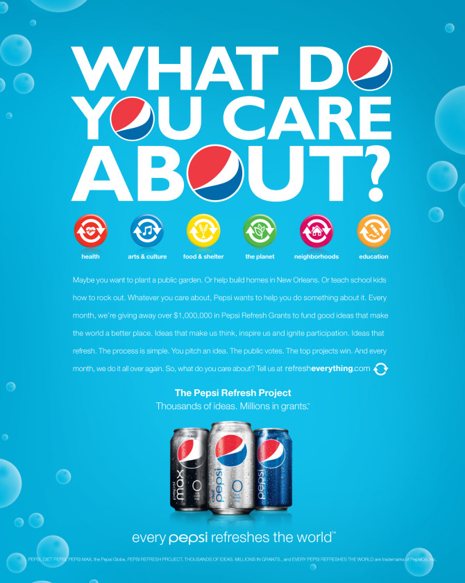 pepsi can a soda really make the world a better place Sodastream's diy pepsi machine  the energy required to make 140 billion bottles and cans of soda and water every year is 100 million barrels of oil  all of that packaging can be obsolete.